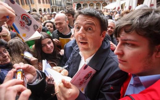 24/05/2013 Treviso, Matteo Renzi chiude in Piazza dei Signori la campagna elettorale di Manildo, candidato del centrosinistra