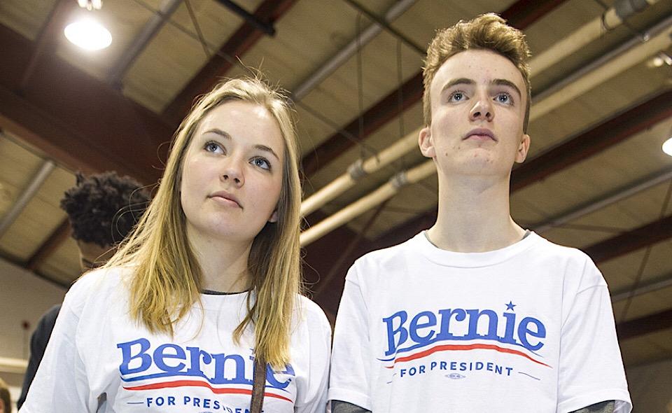 Giovani fan di Bernie Sanders