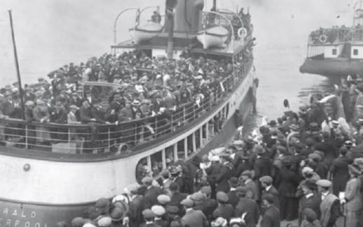 immigrati italiani sbarcano a New York