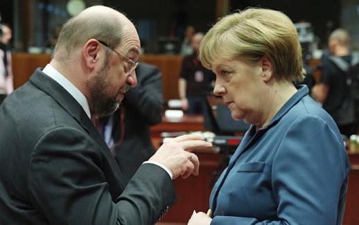 Schultz Merkel