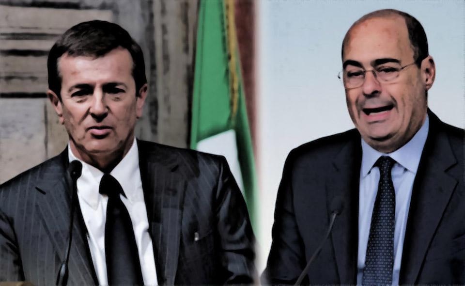 Nella foto: Giorgio Gori e Nicola Zingaretti