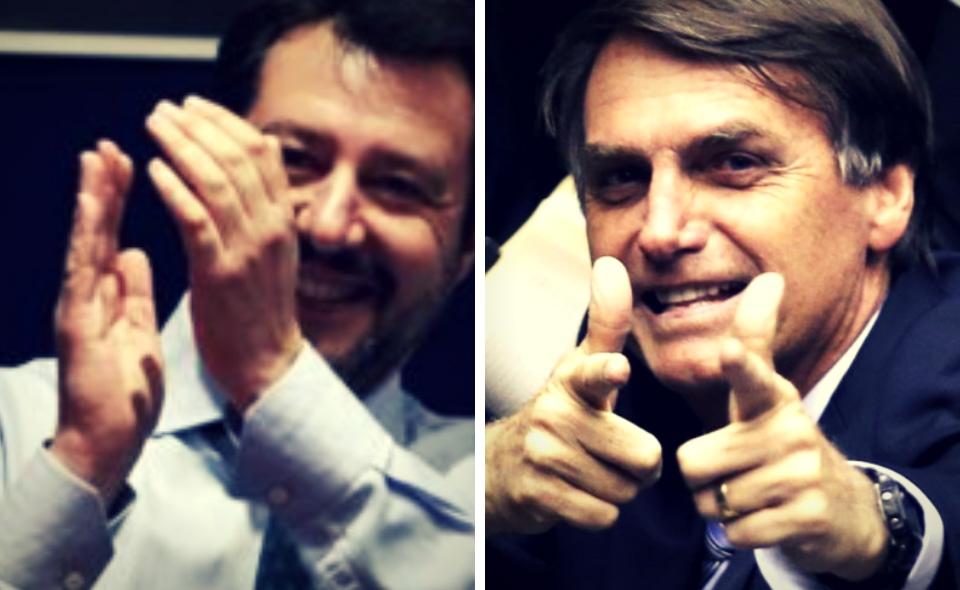 Risultati immagini per Salvini e Bolsonaro immagini