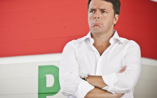 FOTO DI REPERTORIO..Stefano De Grandis/Lapresse.Bologna 7/9/2014.Festa dell'unit?† PD..comizio finale di Matteo Renzi..nella foto: Matteo Renzi