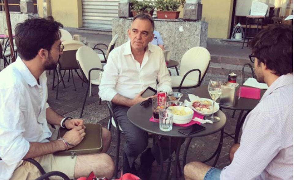 Carlo Notarpietro con Enrico Rossi