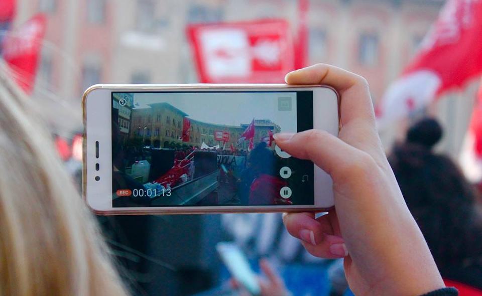 Manifestazione studenti medi Pisa