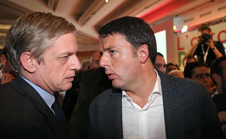 Gianni Cuperlo e Matteo Renzi ANSA/ALESSANDRO DI MEO