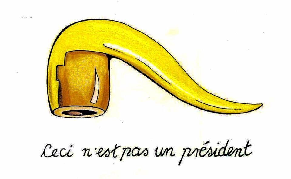 Ceci n'est pas un présidente (René Magritte)