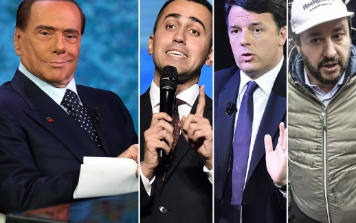 Berlusconi_DiMaio_Renzi_Salvini